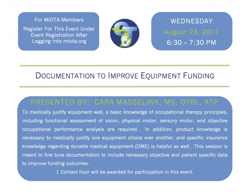 Documentation to Improve Equipment Funding