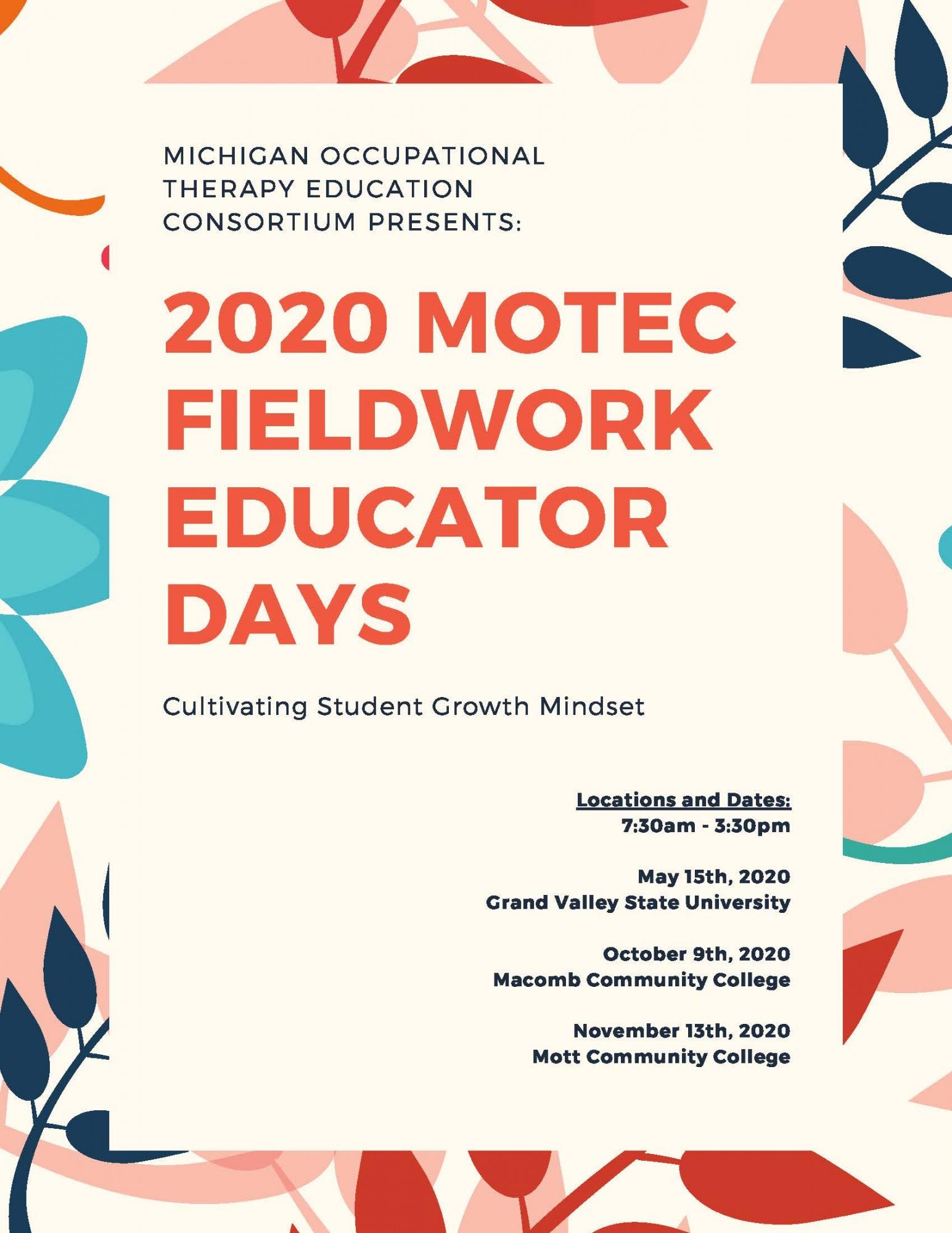 MOTEC 2020 Fieldwork Educator Days Image